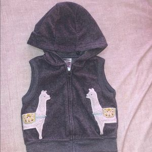 CARTERS - Just One You // Llama Vest-Baby Girl 3m